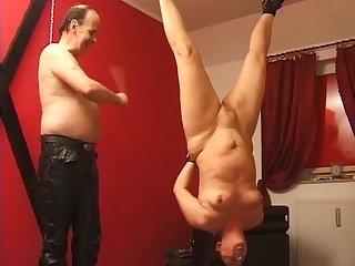 Whipping Grandma loves to be the devot slut
