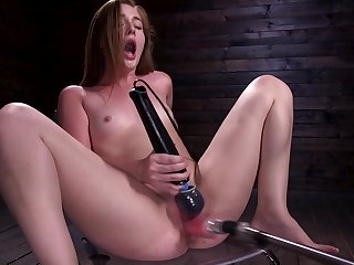 Sybian Machine Fucking the 18 Year old Newcomer