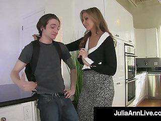 Femdom Busty Blonde Milf Julia Ann Pegs Her BoyToy As Payback!