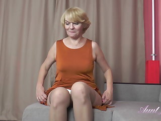 Stockings 56 Year Old Auntie Aliona Sucks Your Cock and Jerks You Off