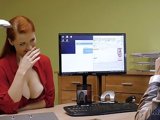 Agent VIP4K. Buxom ginger is fucked hard at casting performed by