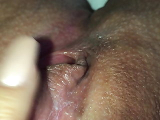 Playing with my pussy till an orgasm clit close up