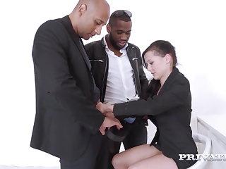 Interracial Private.com Wild Horny Natalie Love Pounded By 4 Black Cocks
