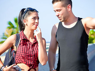 Romanian LETSDOEIT - Lucky Guy Fucks Abroad With Hot Romanian Babe