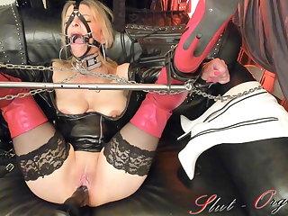 Hogtied Slave Slut-Orgasma Celeste Fuck-Machine torture and squirt