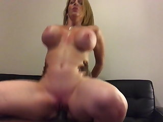 Jamaican Hot and Wild Busty American PAWG MILF Ride Big Black Cock