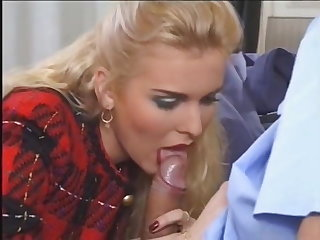 Funny French anal postman and his female boss