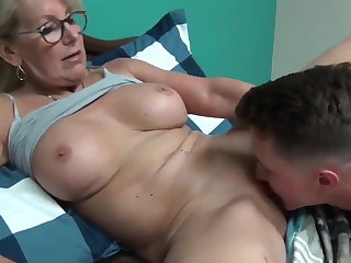 Cougars Horny MILF with Young Boy