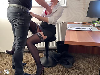 Danish female boss uses trainee for dick riding - business-bitch