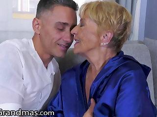Spandex LustyGrandmas, He Skips His Rent By Fucking His GILF Landlady