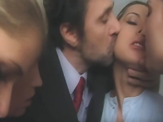 Orgy Reverse gangbang in a women's prison, upscaled to 4K