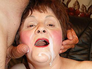 Rough Sex chubby grandma gets rough fuck
