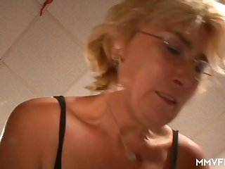 German Granny Takes A Young Cock